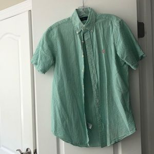 Polo by Ralph Lauren Green Seersucker Buttonup